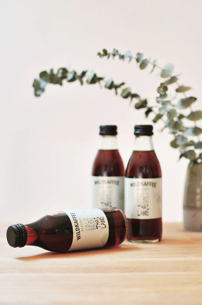 Bottles of Wildkaffee Cold Brew Coffeen